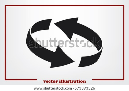 Rotation arrows icon vector illustration. #573393526