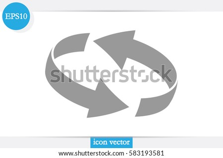 Rotation arrows icon vector illustration. #583193581