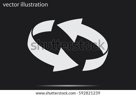 Rotation arrows icon vector illustration. #592821239
