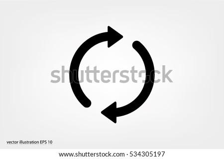 Rotation arrows icon vector illustration eps10