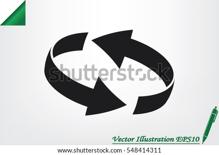 Rotation arrows icon vector illustration eps10. #548414311