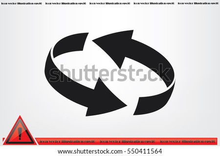 Rotation arrows icon vector illustration eps10. #550411564
