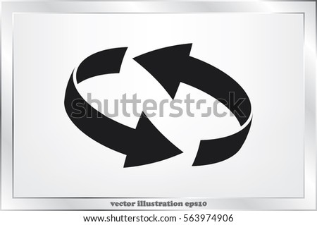 Rotation arrows icon vector illustration eps10. #563974906