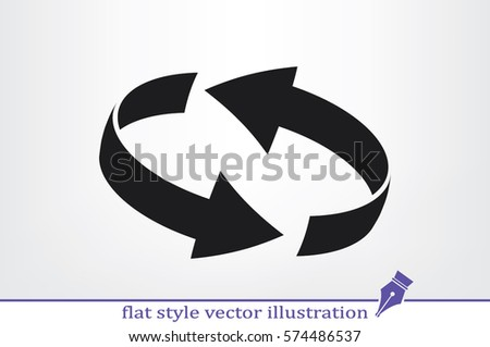 Rotation arrows icon vector illustration eps10. #574486537