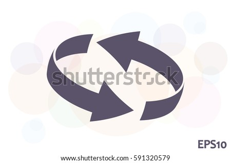 Rotation arrows icon vector illustration eps10. #591320579