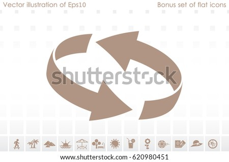 Rotation arrows icon vector illustration eps10. #620980451