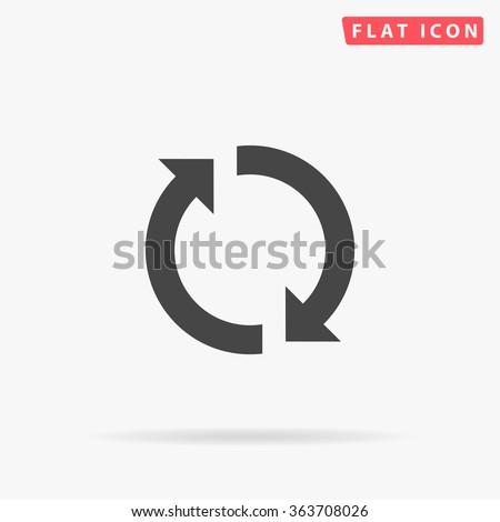 Rotation arrows Icon Vector. Simple flat symbol. Illustration pictogram