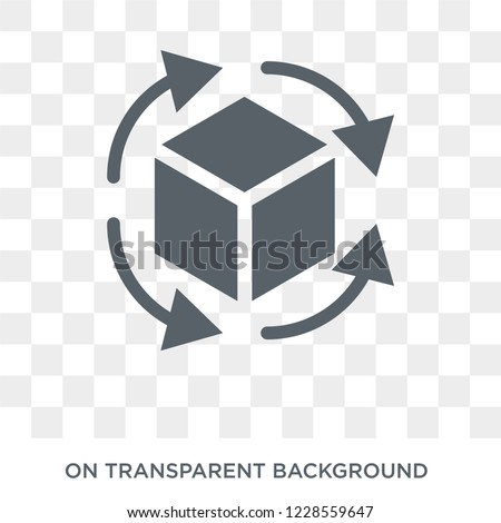 Rotation icon. Trendy flat vector Rotation icon on transparent background from Artificial Intelligence, Future Technology collection. High quality filled Rotation symbol use for web and mobile