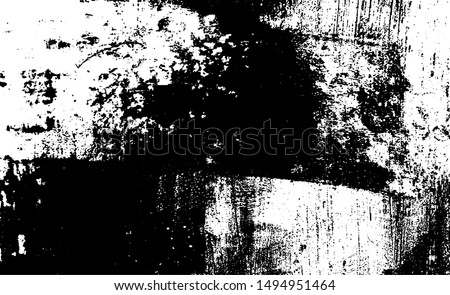 Rough black and white texture vector. Distressed overlay texture. Grunge background. Abstract halftone textured effect. Vector Illustration. Black isolated on white. EPS10.