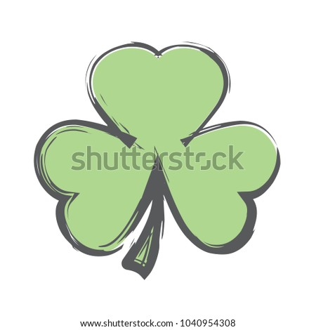 Rough Brush Icon - Shamrock