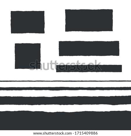 Rough Edge Text Box Shape Vector Flat Backgrounds Set Сток-фото ©