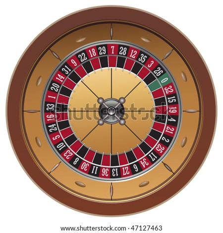 roulette casino online on white background, vector - stock vector