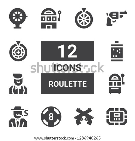 roulette icon set collection