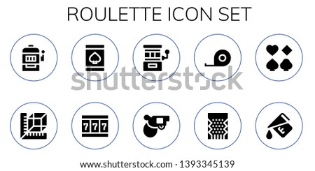 roulette icon set 10 filled