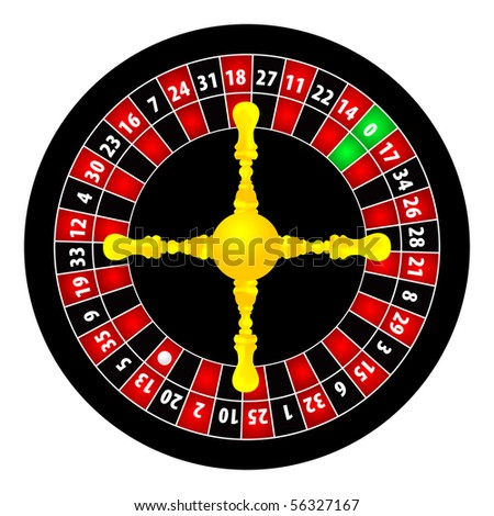 roulette illustration on white background