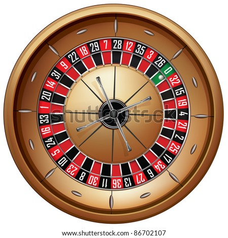 Roulette Isolated on White Background. Vector EPS8.