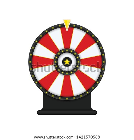 Roulette or fortune wheel isolated on transparent background. Gambling and lottery win concept. Wheel of Fortune for game and win jackpot. Color Lucky Wheels Template. Vector illustration EPS 10.