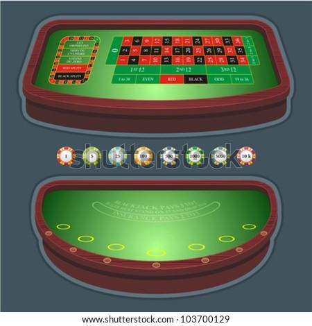 roulette table blackjack