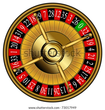 Roulette wheel - stock vector