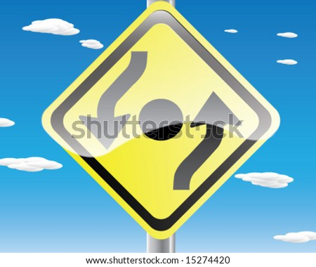 Roundabout Road Sign. Round About Traffic Sign