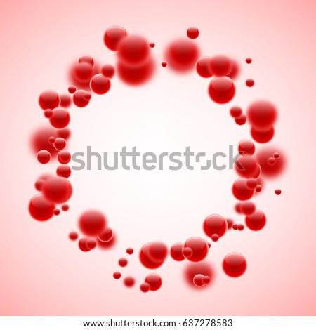 round abstract background with
