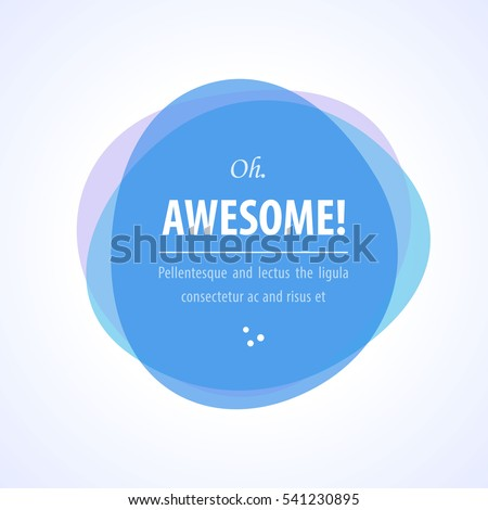 Round abstract blue colorful shape banner icon isolated on white background vector illustration.