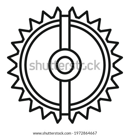 Round animal trap icon. Outline Round animal trap vector icon for web design isolated on white background Stock photo ©