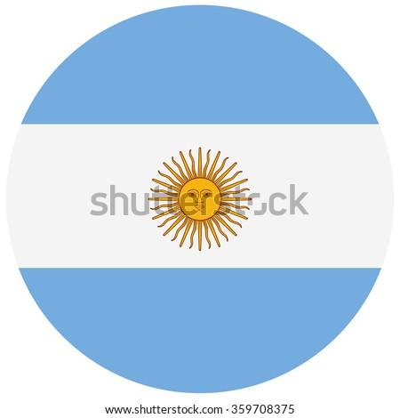 round argentina flag vector