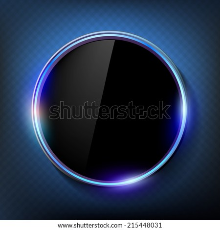 round black screen on a blue