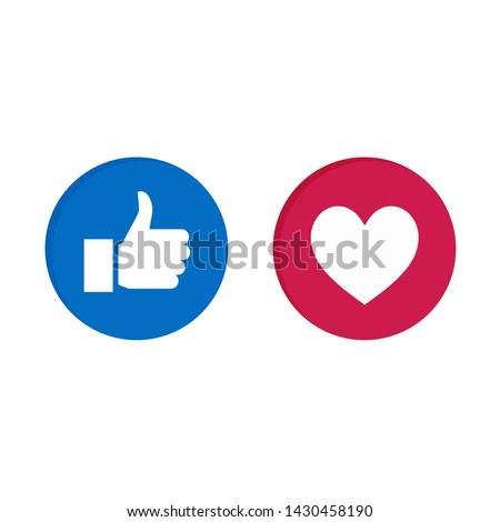 round blue red cartoon bubble emoticons for social media chat comment reactions, icon template like love emoji character message