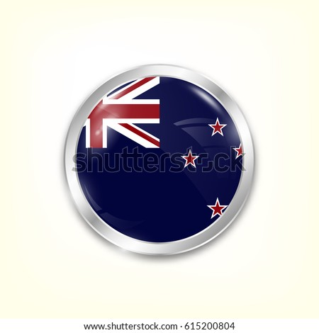 round button national flag of