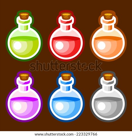 stock-vector-round-cartoon-bottles-liqui