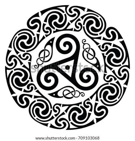 round celtic design celtic