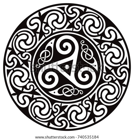 round celtic design celtic