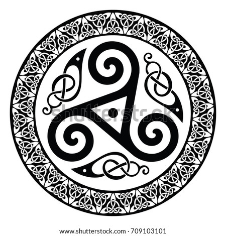 round celtic design  isolated