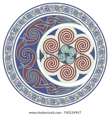 round celtic design  mandala
