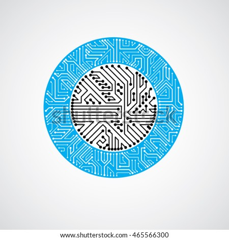 round circuit board with