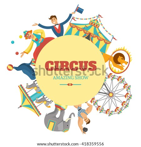 round circus composition with