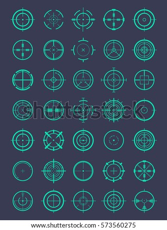 round crosshairs for video