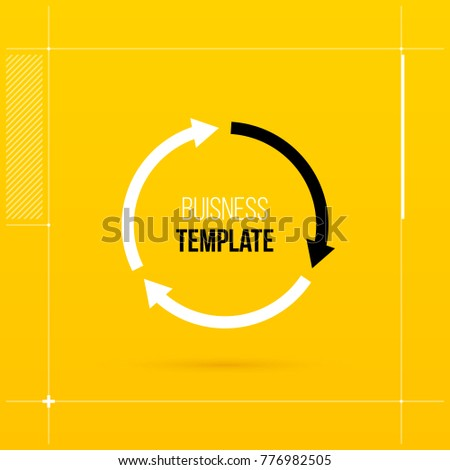 Round cycle template with three segments in elegant techno style.