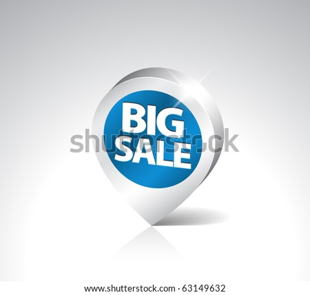 Round 3D pointer for big sale - blue with silver border