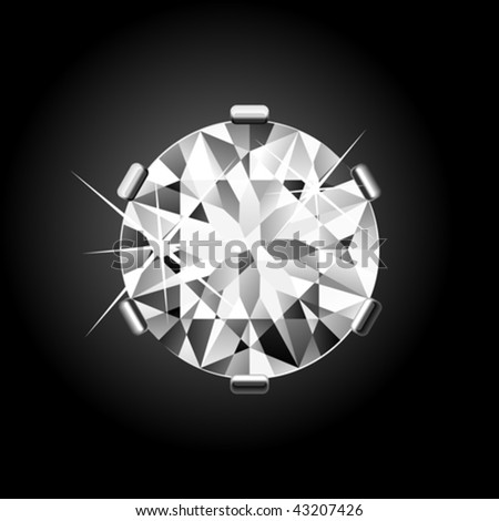 Round Diamond. Vector.