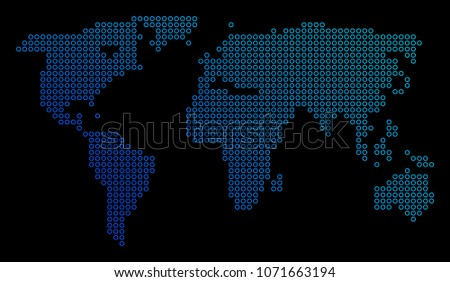 Blue earth background made with dots descargue grficos y vectores round dot world map vector geographic map in blue gradient colors on a black background gumiabroncs Gallery