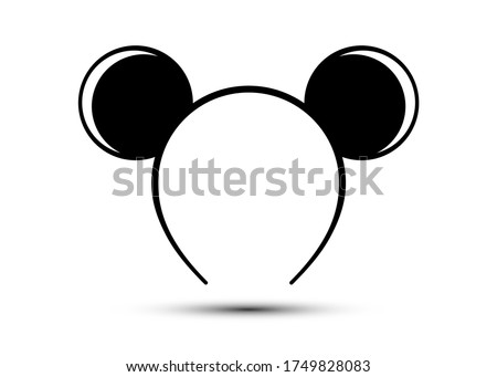 Round ears mask mouse vector isolated on white background  Сток-фото ©