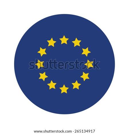 Round european union flag vector icon isolated, european union flag button Сток-фото ©
