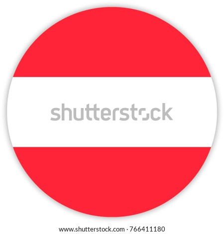 round flag of austria circle