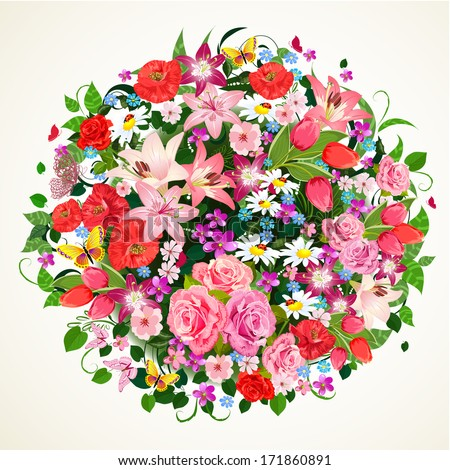round floral ornament for your