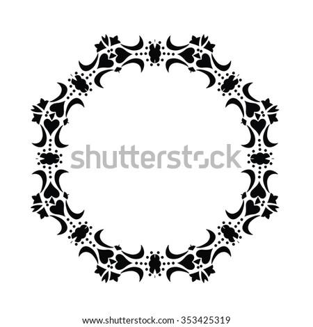 Round frame. Ornamental pattern. Vector art   EZ Canvas