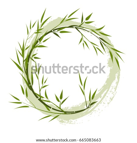 stock-vector-round-frame-with-bamboo-branches-grunge-element-vector-illustration