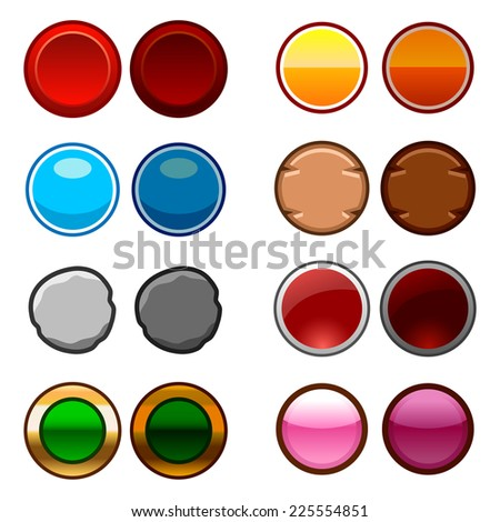 stock-vector-round-game-buttons-back-and